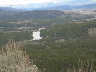 Looking down on Snake River