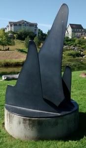 Whale fins sculpture